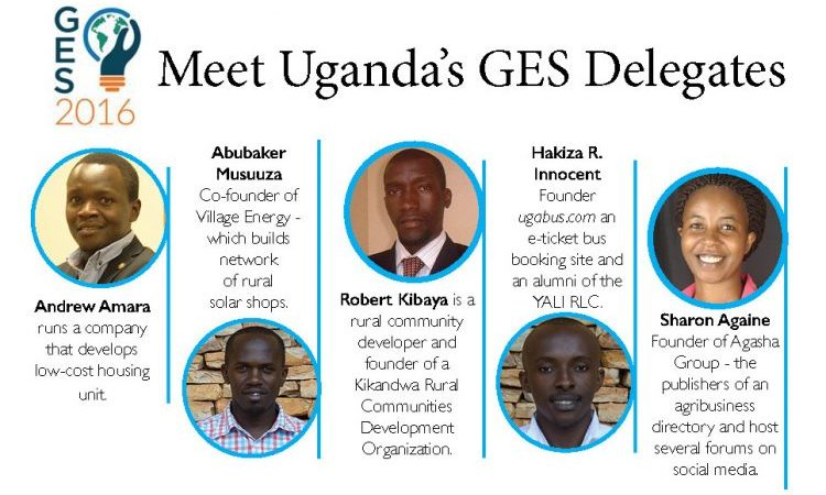 Meet Five Talented Young Ugandans for the 2016 Global Entrepreneurship Summit