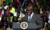 Emmanuel Odama Introduces President Obama at the YALI Town Hall