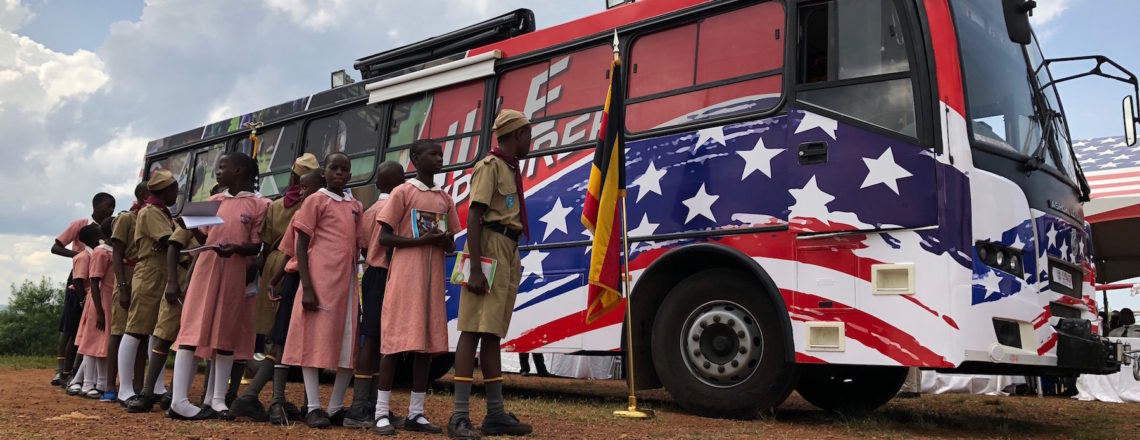 U.S. Launches Mobile Library to Support Education in Uganda